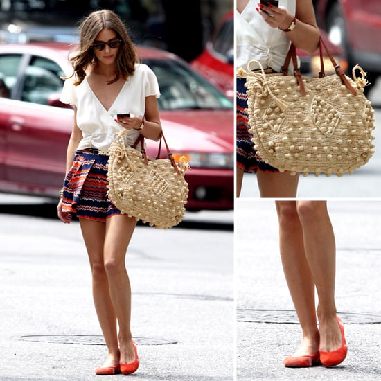 Olivia Palermo Printed Shorts in NYC Pictures