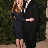 Chelsea Clinton posed for photos with Marc Mezvinsky at the CFDA/Vogue Fashion Fund Awards in NYC.