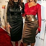 Tina and Beyoncé graced the red carpet for Condé Nast's Fashion Rocks event in 2004.