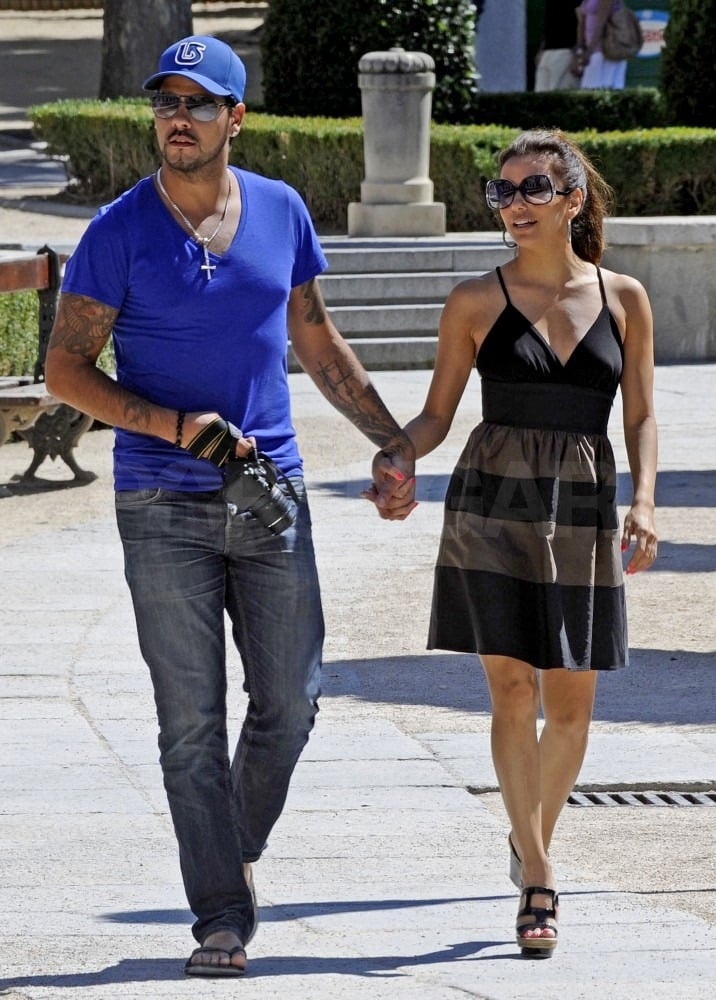 Eduardo Cruz played tour guide for Eva Longoria today during their afternoon stroll in his hometown of Madrid. The pair seemed to enjoy taking their PDA on the road, after Eva and Eduardo visited Mexico and Miami on previous romantic getaways. Right now Eva's on a break from Desperate Housewives and promoting her cookbook, Eva's Kitchen, and Eduardo seized the opportunity to show her his native Spain. Eva and Eduardo may be returning to the States soon enough, though, if she wants to be in LA for the impending birth of her goddaughter, Victoria Beckham's baby girl.