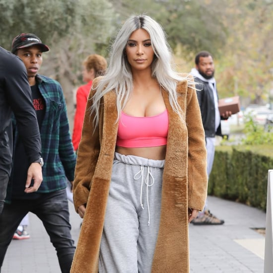 Kim Kardashian Wearing Sock Boots and Sweatpants