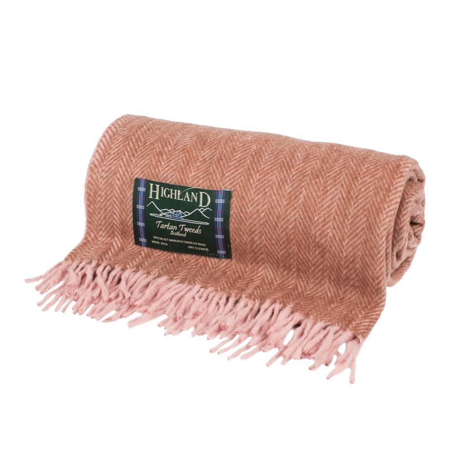 Heritage of Scotland Herringbone Wool Blend Blanket