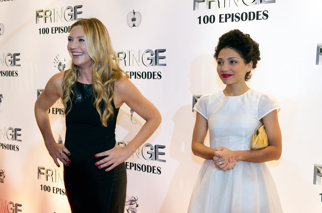 Anna Torv and Jasika Nicole were out in Vancouver to celebrate 100 episodes and the final season of Fringe in Vancouver.