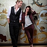 Chris Hemsworth was watching Kristen Stewart at a photo shoot for Snow White and the Huntsman in Sydney.