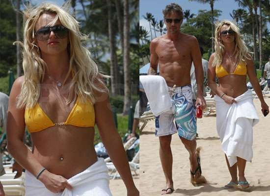 Pictures of Britney Spears in Bikini With Shirtless Jason Trawick Plus Pop Magazine Manga Cover and Lady GaGa Collaboration