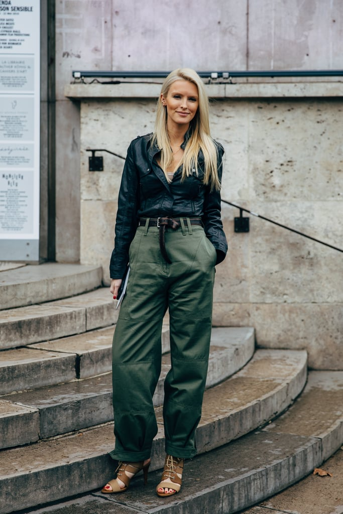 Tuck your button-down into a pair of green cargo pants.
