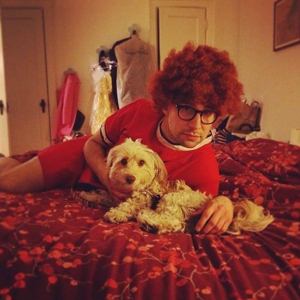 Bonus: he dresses up like Annie for Instagram photos.