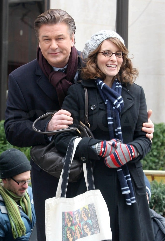 Tina Fey and Alec Baldwin were too cute yesterday as they laughed and smiled through a day of shooting 30 Rock in NYC. They had good reason, besides the funny material, to be in good spirits —their show just earned three Golden Globe nominations, including individual Best Actor and Actress nods for Alec and Tina. In addition, they scored another handful for the Screen Actors Guild Awards. Tina and Alec both have lots to be thankful for as they wrap up another successful year, including a possible new big-screen role for him.