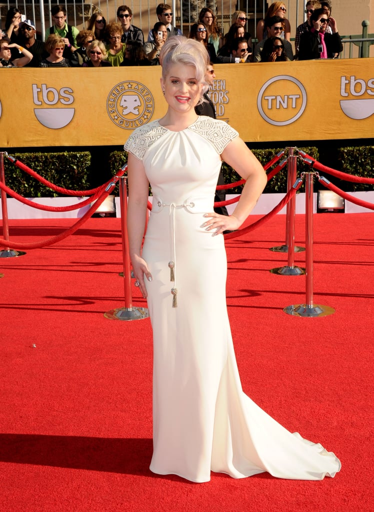 Celebrity Red Carpet Style Round Up from the 2012 SAG Awards: Who Wore What. Lea Michele, Kaley Cuoco, Angelina Jolie & more!