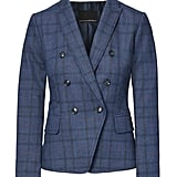 Banana Republic Double Breasted-Fit Plaid Blazer