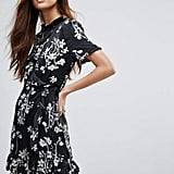 Vero Moda Floral Ruffle Wrap Dress