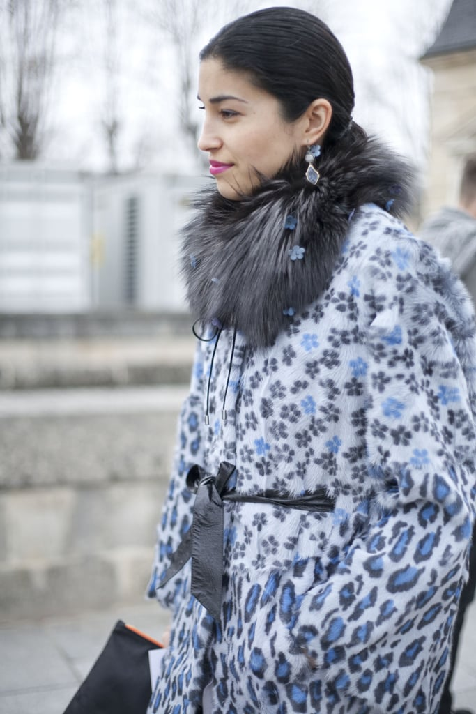 Caroline Issa caught our eye in a beautiful print and luxe fur collar.
