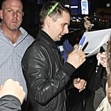 Matthew Bellamy attended an SNL party in NYC after performing on the show.
