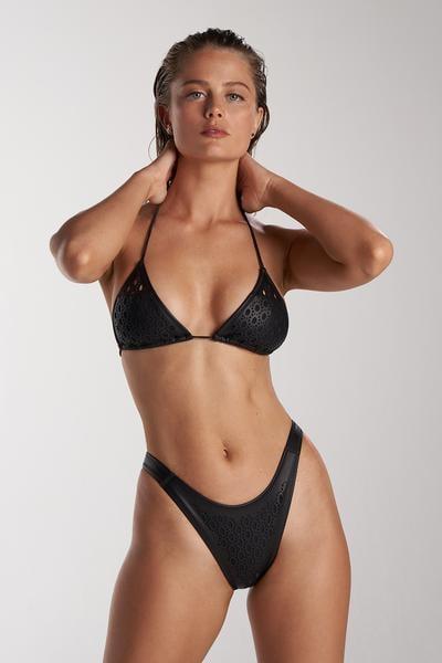 Gigi C Bikinis Brooke Top Faux Leather