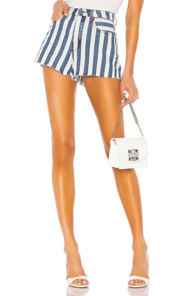 Superdown Sydney Striped Denim Shorts