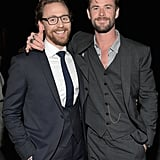 Pictured: Tom Hiddleston and Chris Hemsworth