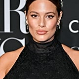 Ashley Graham Pregnant in Black Feather Dress By 16Arlington