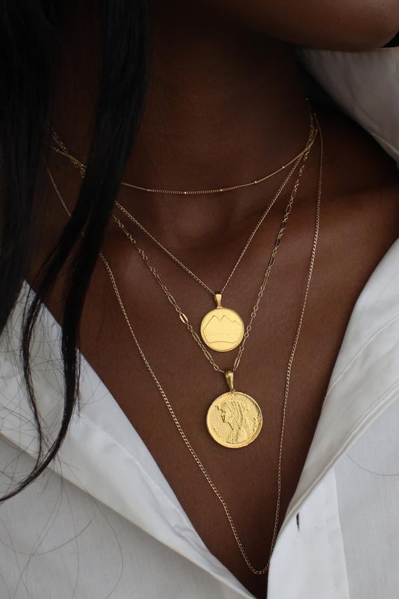 Egyptian Coin Necklace