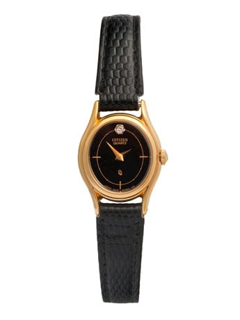 Proof that you can be punctual and stylish at the same time. Vintage Citizen Crystal Rhinestone Ladies' Leather Watch ($235)