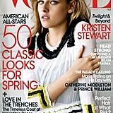 Kristen Stewart smoldered on the February 2011 cover of Vogue.
