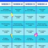 Kayla Itsines 4-Week No-Equipment Workout Plan For POPSUGAR