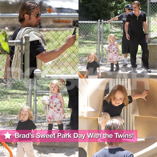 Pictures of Brad Pitt With Vivienne and Knox