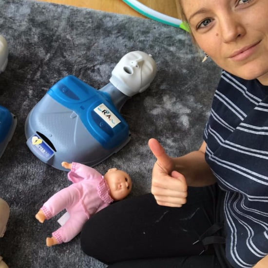 Blake Lively and Ryan Reynolds Infant CPR Post