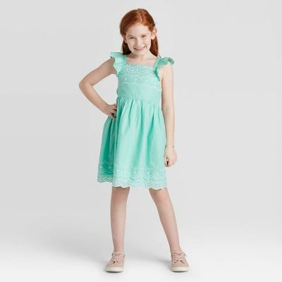 Girls' Embroidered Dress
