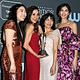 Awkwafina, Michelle Yeoh, Constance Wu, and Gemma Chan at the 2019 Critics' Choice Awards