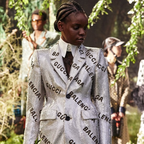 "Gucci ""Hacks"" Balenciaga's Logo For the Gucci Aria Runway"
