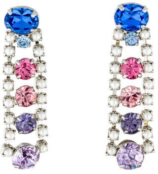 Tom Binns crystal and faux pearl drop earrings ($125) will make you feel a little like a princess whenever you put them on.