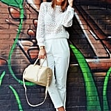 Shein Lace Mock Neck Blouse