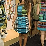 At a party in London in June 2011, Margherita stood out in her green and blue Missoni zigzag minidress, which she accessorized with strappy sandals, a studded belt, and a metallic clutch. Sport this Missoni square-neck dress ($718) or this Laundry by Shelli Segal zigzag dress ($225) to get her look.