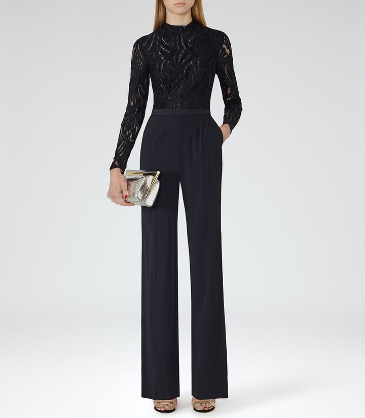 edcdcfc92e Reiss Oman Lace Top High Neck Jumpsuit (£245). Share This Link