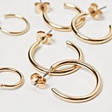 H&M 5 Pairs Hoop Earrings