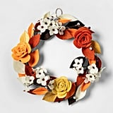 Harvest Felt Floral Wreath