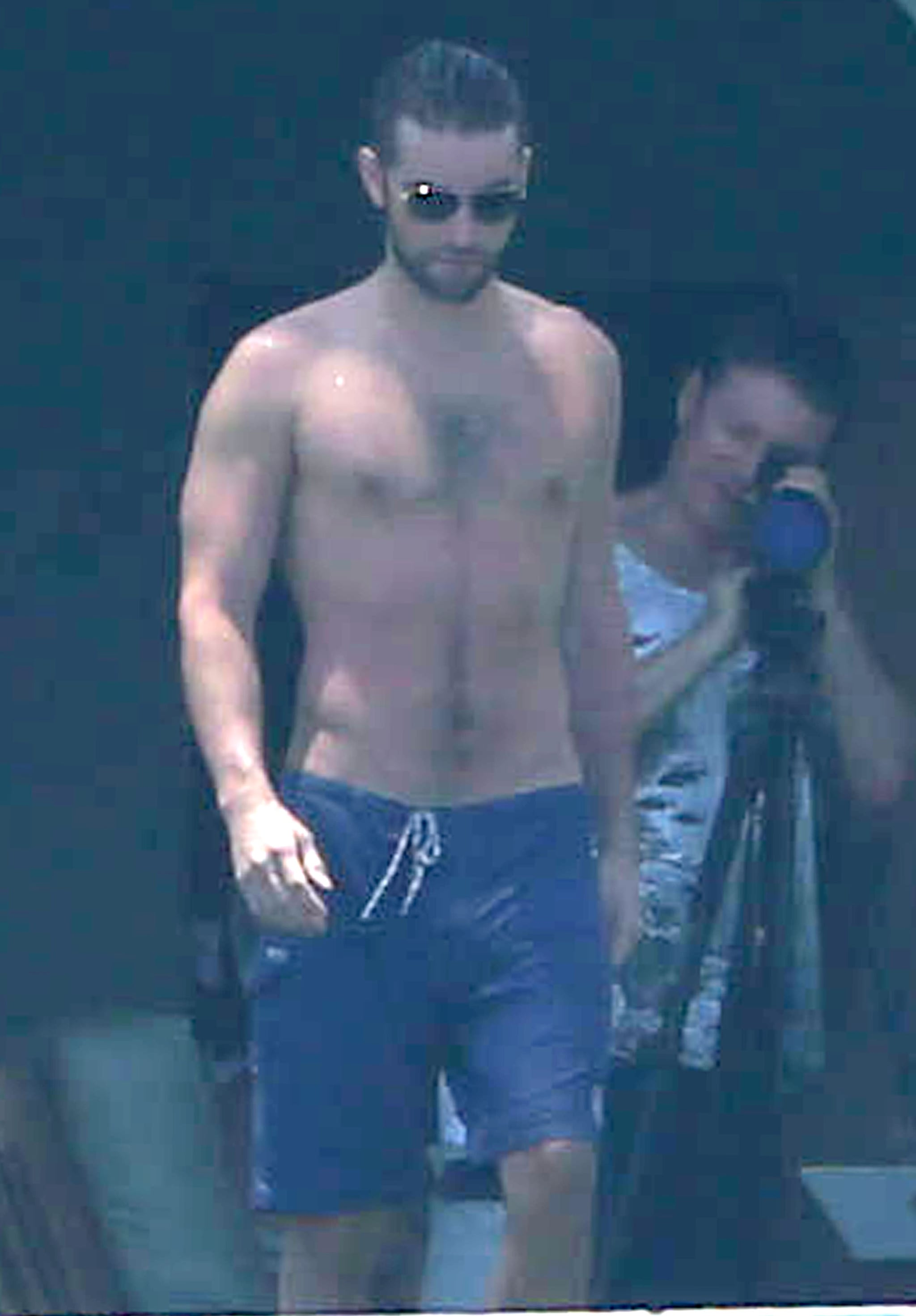 Chace Crawford lost his shirt while vacationing in Cabo in May.