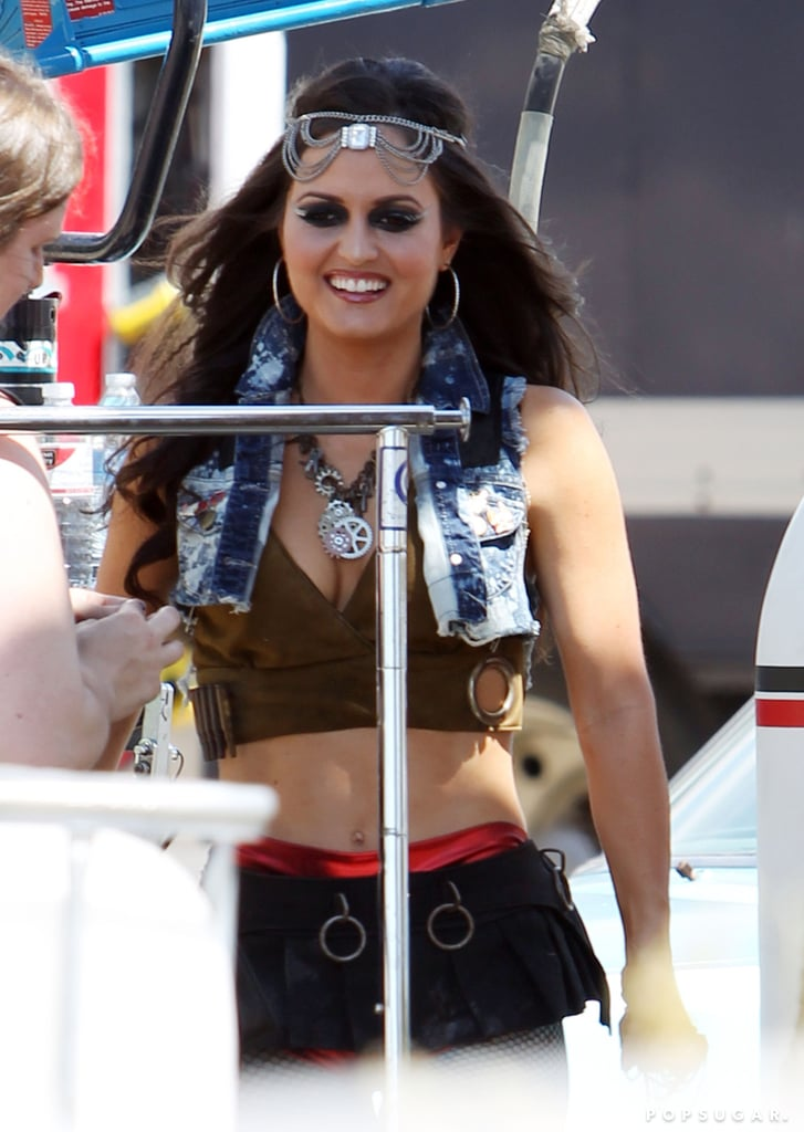 Danica McKellar joined Avril Lavigne for her video shoot in LA.