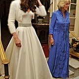 Kate Middleton Pictures in Second Sarah Burton McQueen Gown For Royal Wedding