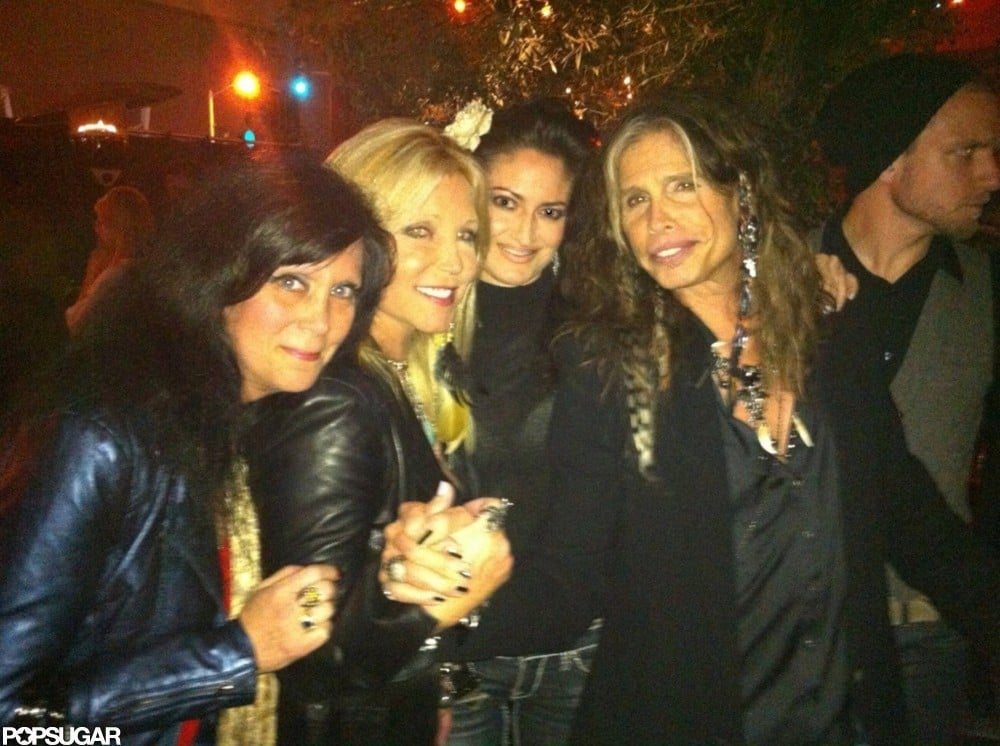 Steven Tyler attended the afterparty of his LA show.