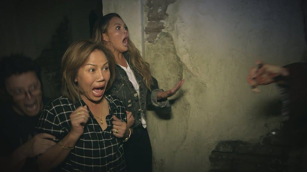 Chrissy Teigen Braved a Haunted House With Her Mom