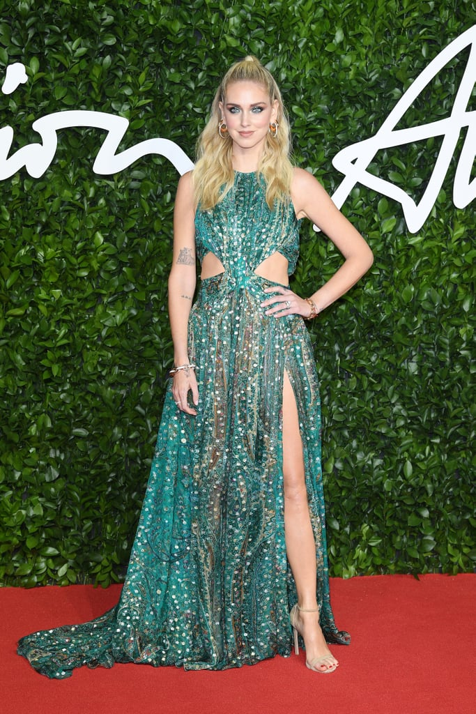 Chiara Ferragni at the British Fashion Awards 2019