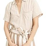 J.Crew Beauchamps Linen Short Sleeve Popover