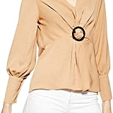 Topshop Horn Buckle Twist Blouse