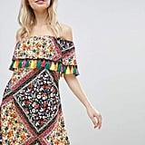 Glamorous Off-Shoulder Printed Dress