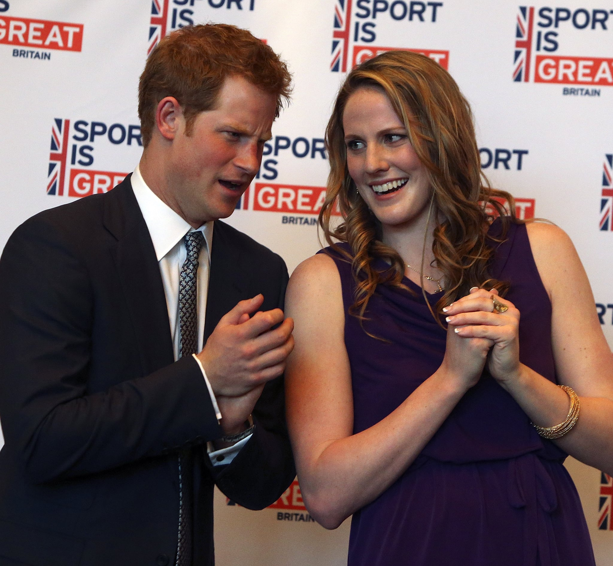 Prince Harry chatted with Missy Franklin at an event in Denver.