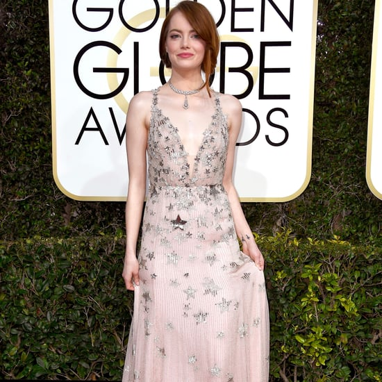 Emma Stone and Her Brother at  Golden Globe Awards 2017
