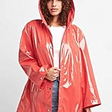 Gap Hooded High-Gloss Rain Jacket