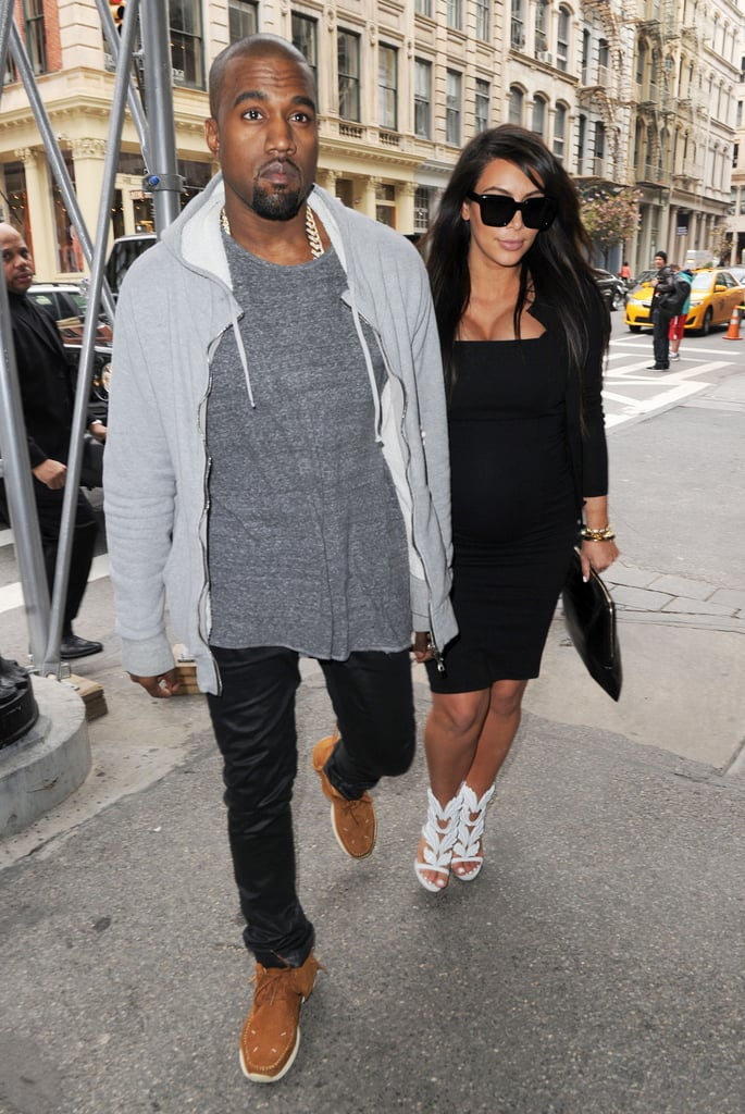 Kim Kardashian and Kanye West went shopping in NYC.