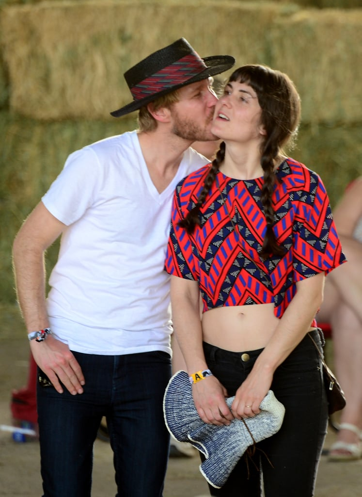 A couple got close at the 2014 Stagecoach Music Festival.